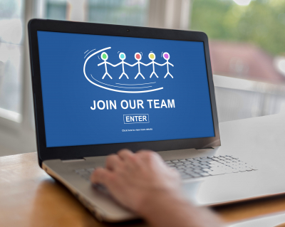 join our team on a laptop